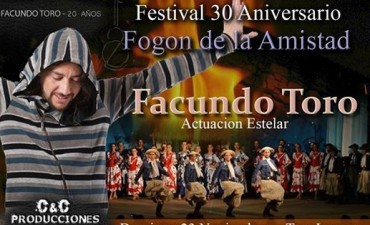 """""""EL FOGÓN DE LA AMISTAD"""" FESTEJA SUS 30 AÑOS EL DOMINGO 23"""