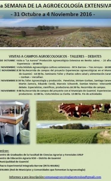 LLEGÓ AL DISTRITO LA SEGUNDA SEMANA DE AGROECOLOGÍA EXTENSIVA