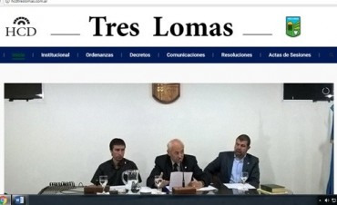 FUE PRESENTADA LA WEB OFICIAL DEL CONCEJO DELIBERANTE