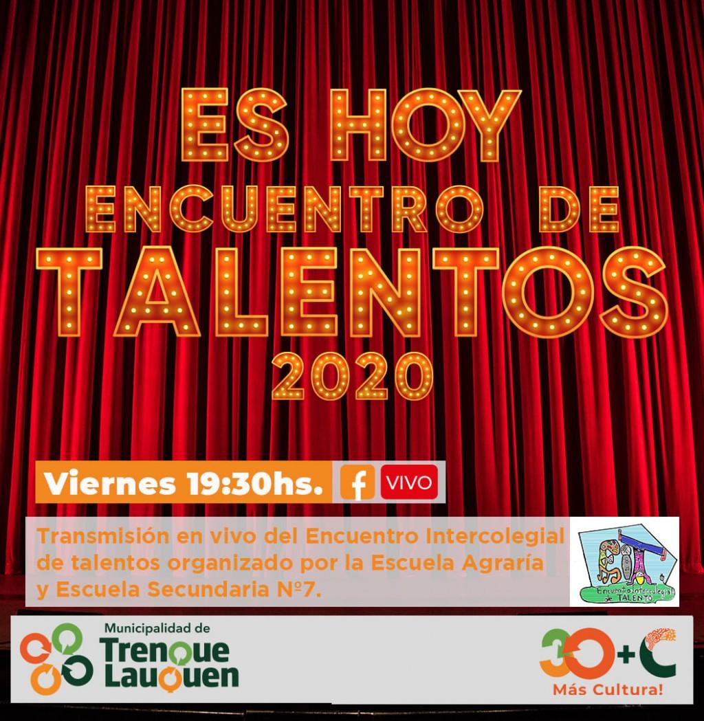HOY SE LLEVARÁ A CABO EL ENCUENTRO INTERCOLEGIAL DE TALENTOS 2020
