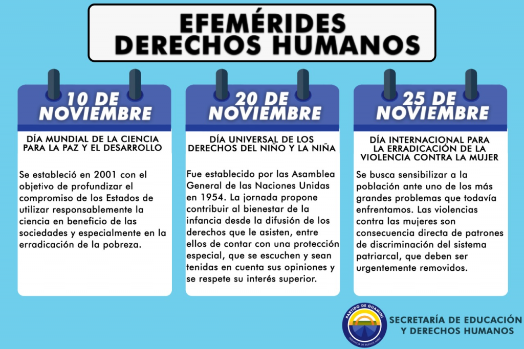 CALENDARIO DE DERECHOS HUMANOS