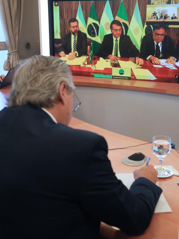 DÍA DE LA AMISTAD ARGENTINO - BRASILEÑA: EL PRESIDENTE ENCABEZÓ UN ACTO VIRTUAL JUNTO A SU PAR, JAIR BOLSONARO
