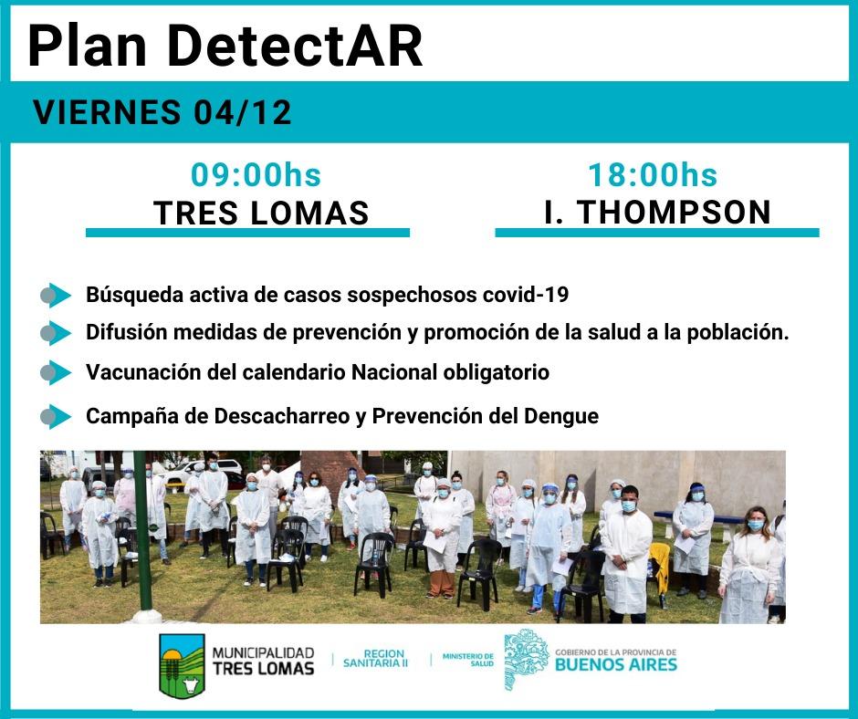 """""""PLAN DETECTAR"""" EN TRES LOMAS E INGENIERO THOMPSON"""