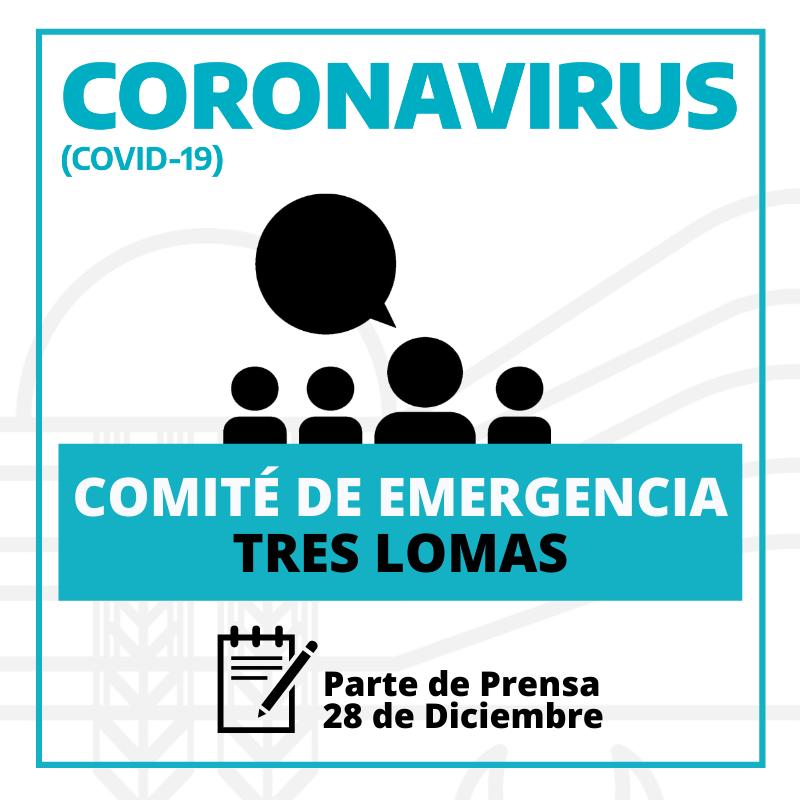 SE REUNIO EL COMITÉ DE EMERGENCIA. RIGEN LAS MISMAS MEDIDAS DEL 17 DE DICIEMBRE