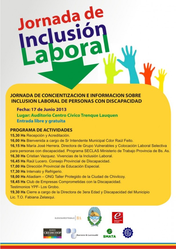 SE REALIZARA UNA JORNADA DE INFORMACION PARA LA INCLUSION LABORAL
