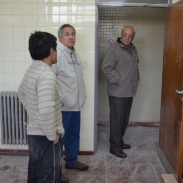 SUPERVISAN OBRAS PARA LA INAUGURACION DE LA COMISARIA DE LA MUJER