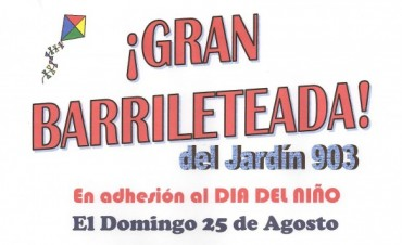 GRAN BARRILETEADA ORGANIZADA POR EL JARDIN DE INFANTES Nº 903